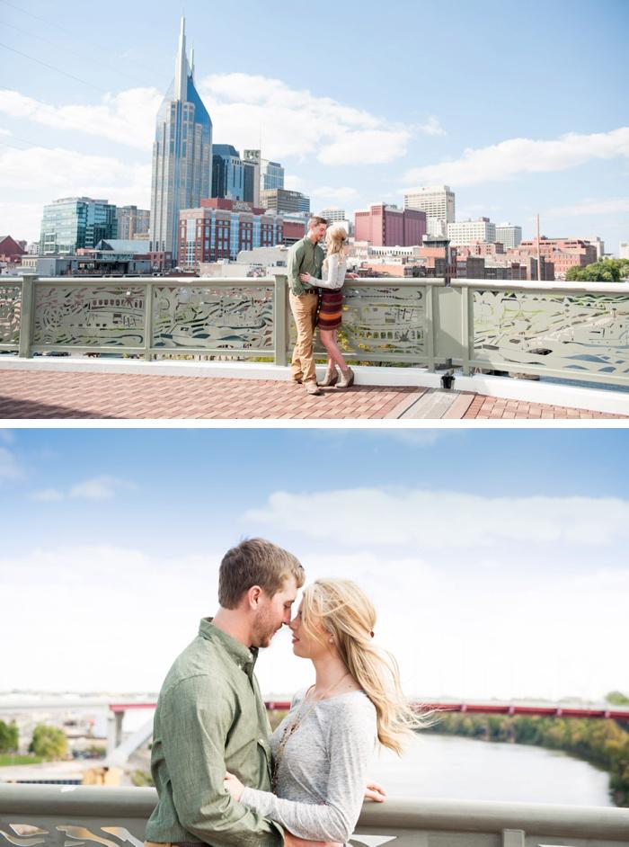 Engagement at Nashville Pedestrian Bridge-07