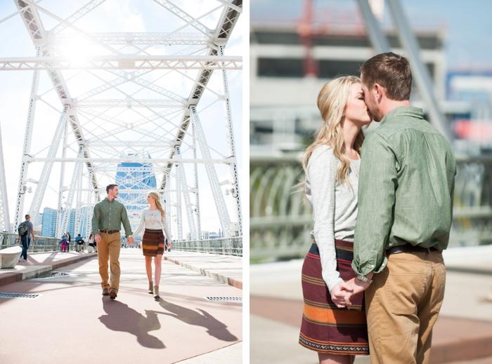 Engagement at Nashville Pedestrian Bridge-12
