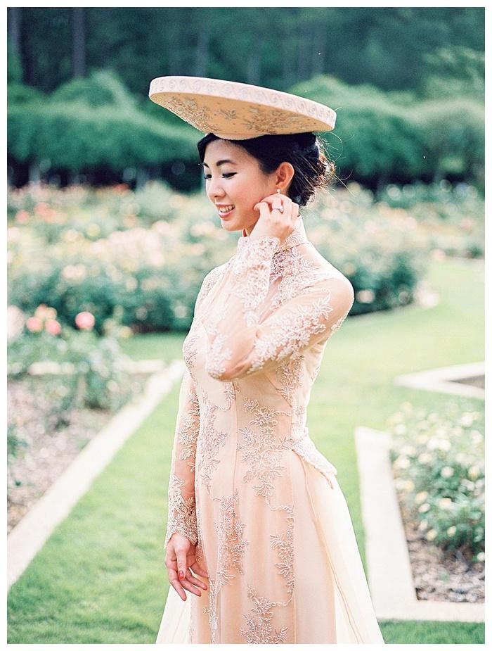 Vietnamese-American wedding bridal portrait session