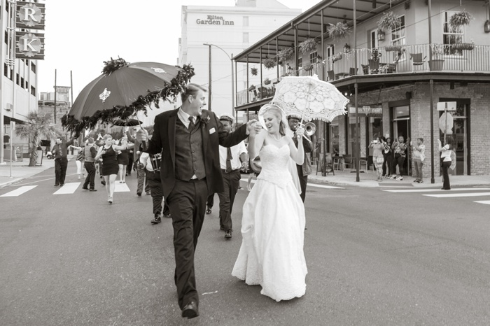 Second line wedding in new orleans