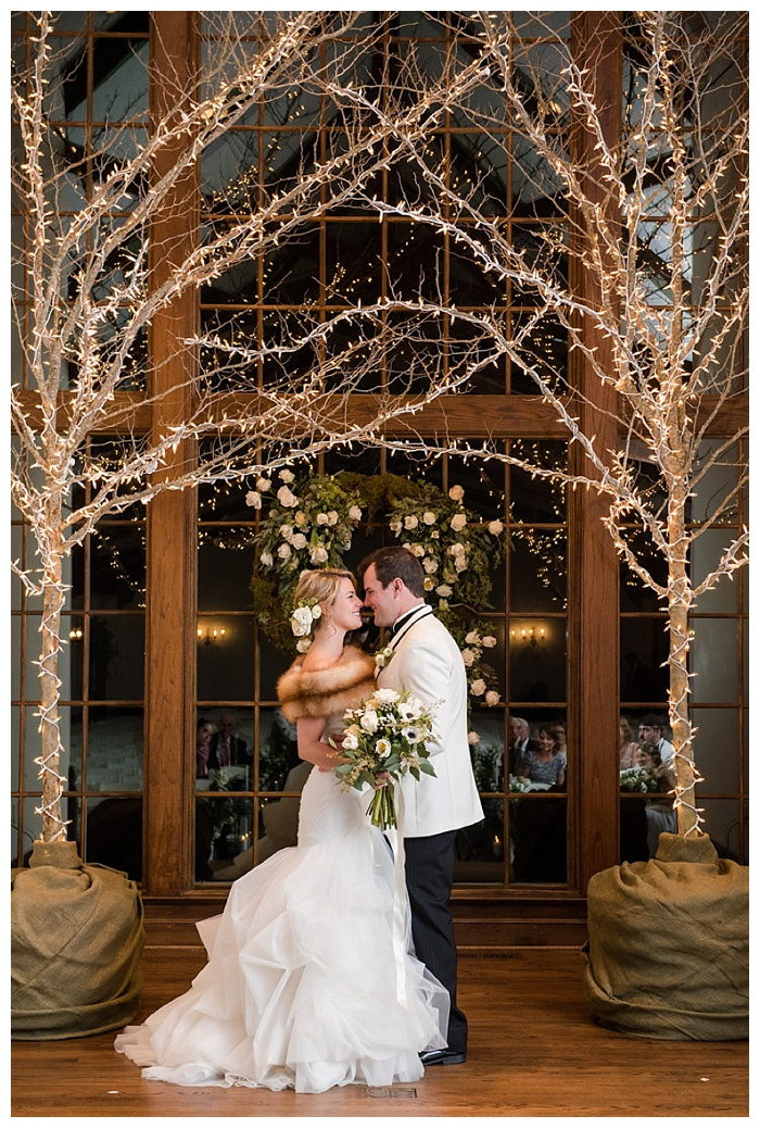 winter wedding at Shoal Creek Club