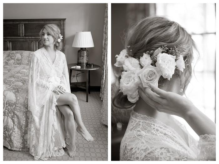 Shoal Creek bride in lace robe