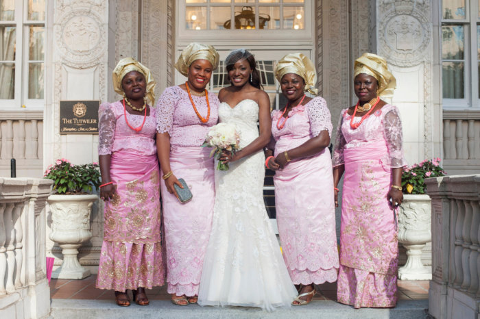 Nigerian wedding pink