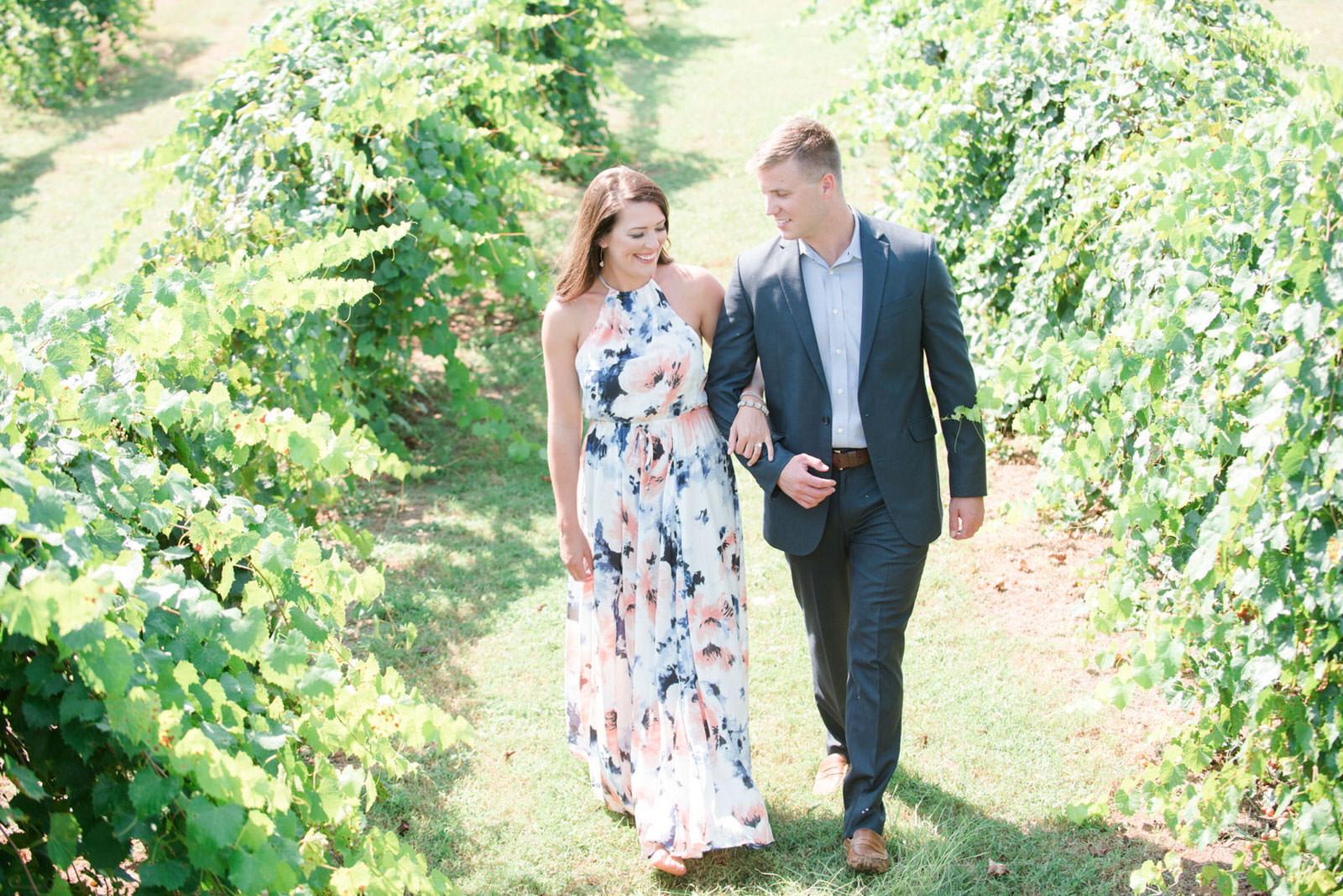 engagement at Morgan Creek Winery Alabama