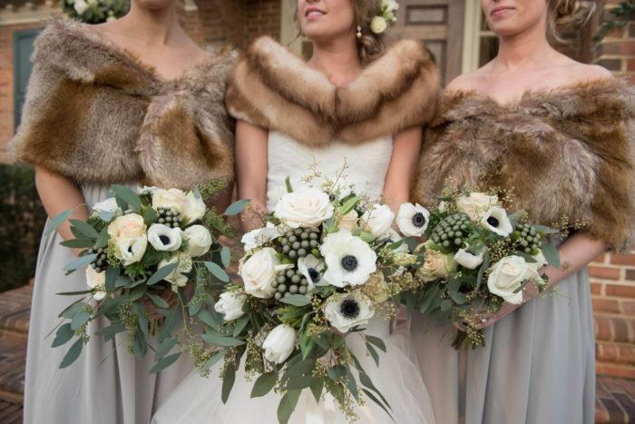 winter wedding fur