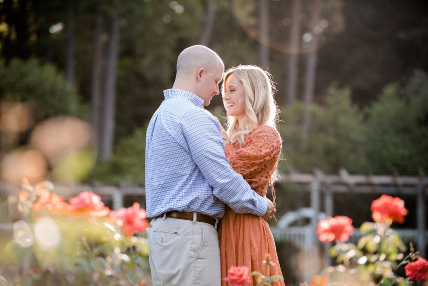 engagement photos rose garden