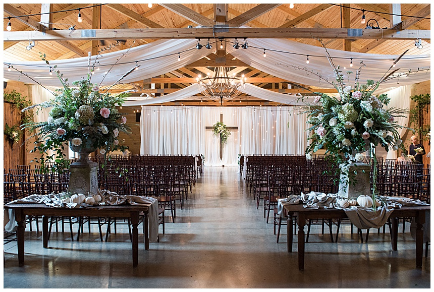 ceremony area barn at shady lane birmingham al