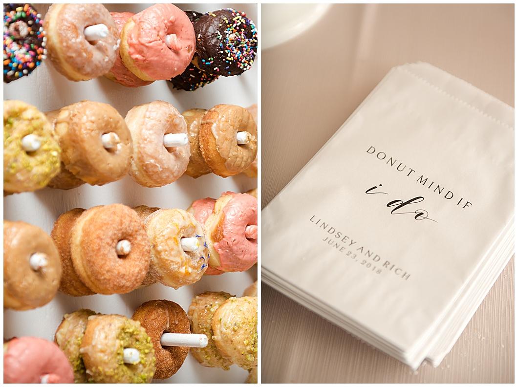 hero doughnuts wall wedding reception