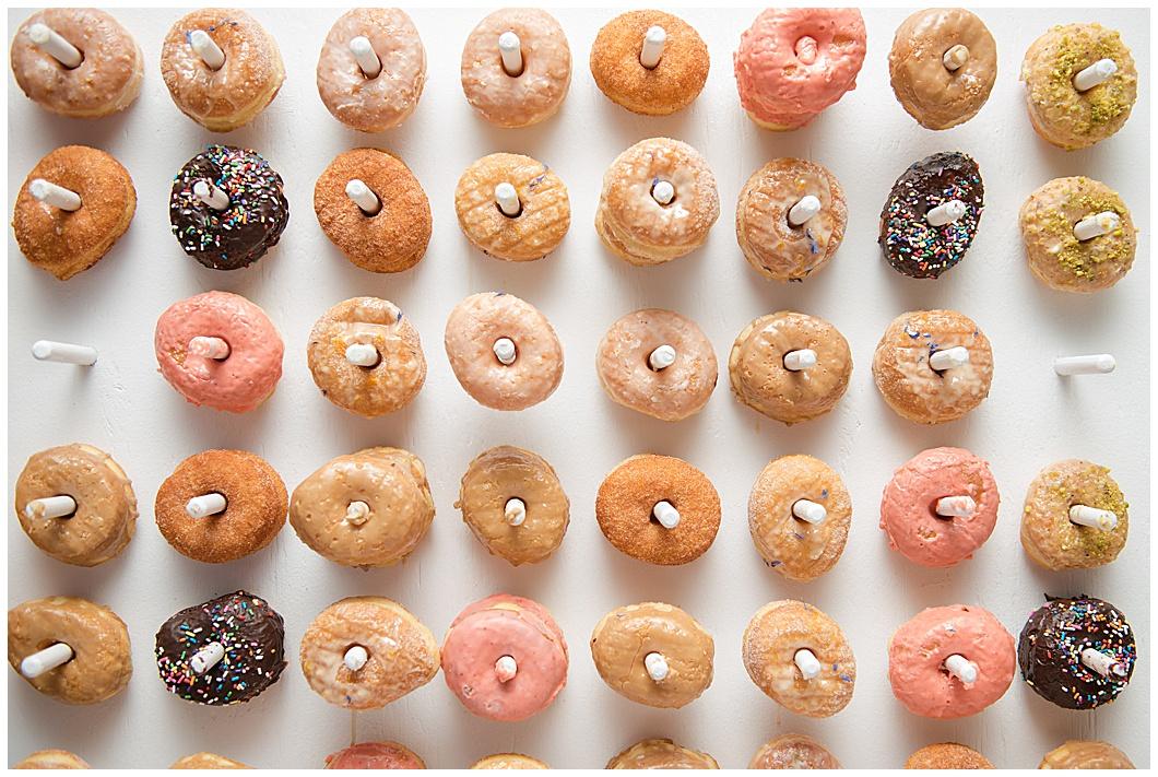 wedding doughnut wall