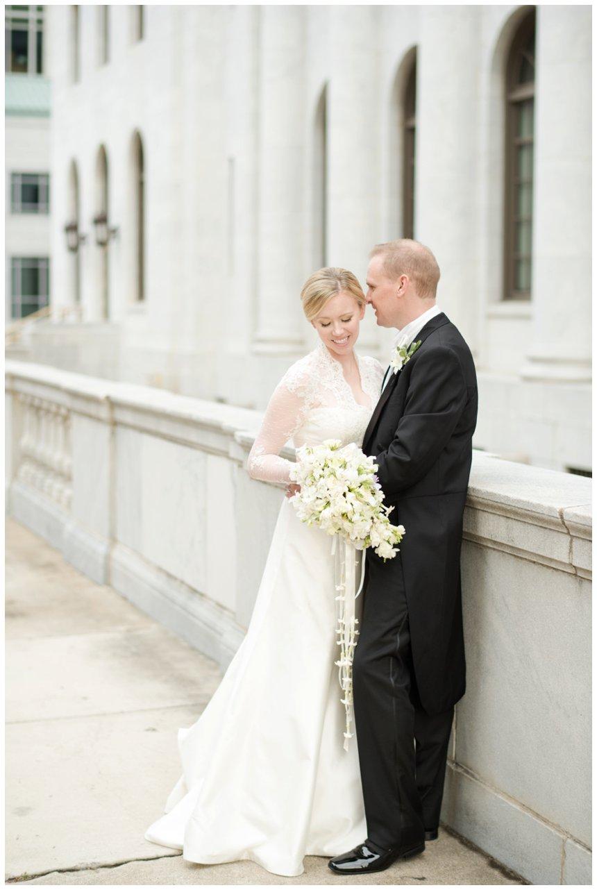 downtown birmingham bride and groom