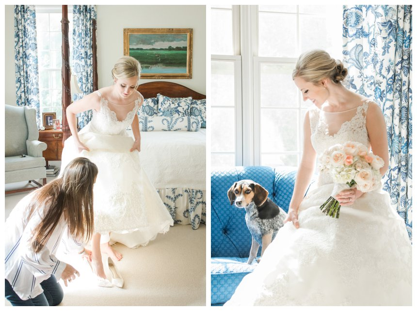 AK Brides in Birmingham, AL and bride with beagle.